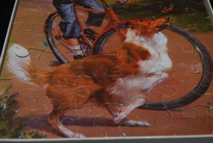 Jumbo puzzel 1001-50 pieces-jingen op fiets en Lassie