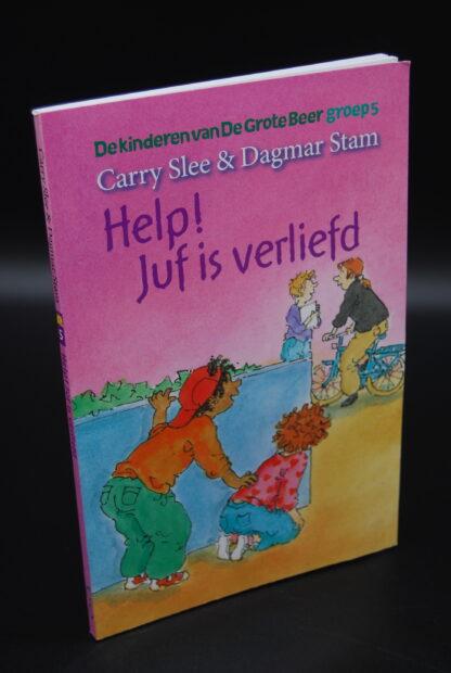 Kinderboek-Help Juf is verliefd-Carry Slee