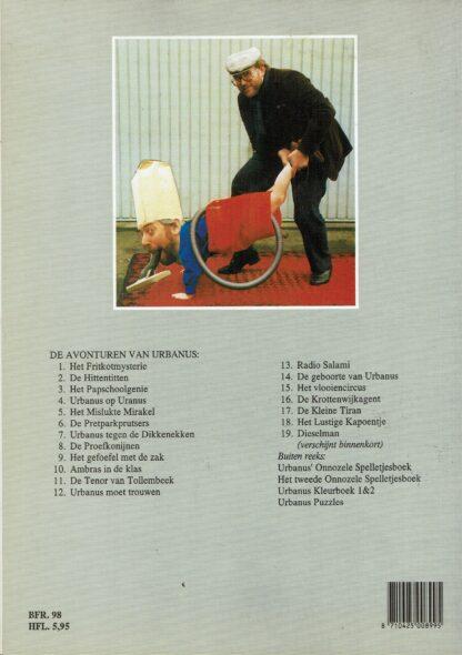 Urbanus het lustige kapoentje (deel18) 1e druk 1988 (achterkant)
