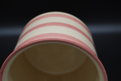 Vintage bloempot streep oud roze