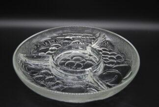 Vintage glazen vakjesschaal
