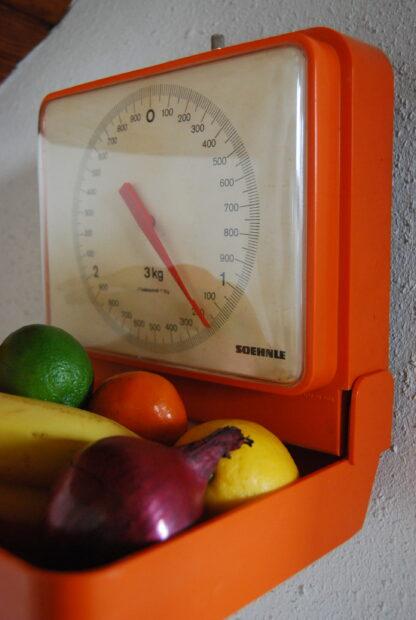 Vintage keukenweegschaal Soehnle oranje