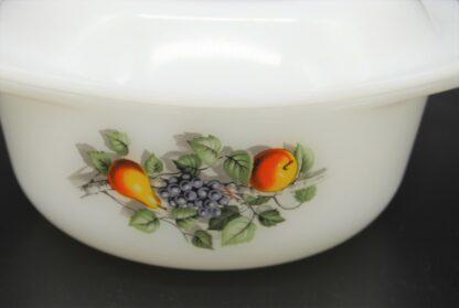 Vintage ovenschaal met deksel Arcopal Fruits de France