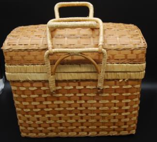 Vintage rotan koffertje met deksel
