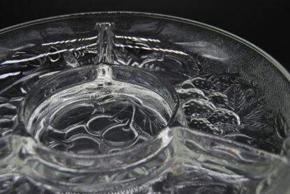 Vintage snackschaal glas