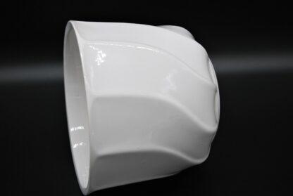 Vintage witte bloempot
