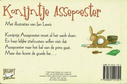 Konijntje Assepoester (achterkant), tweedehands peuterboek