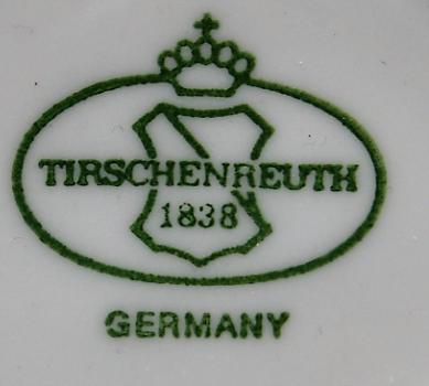 Sauciere Salzburg Musselmat blauw- Tirschenreuth 1838