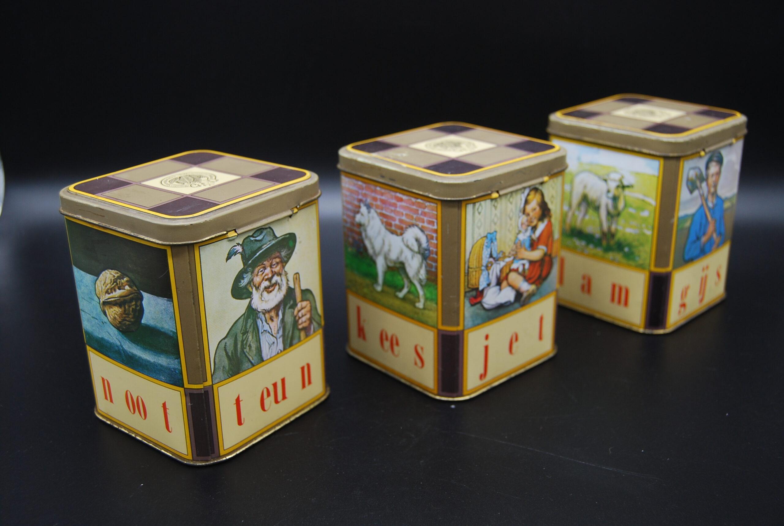 Vintage blikjes Senator Sigarenfabriek -aap noot mies-leesplankje