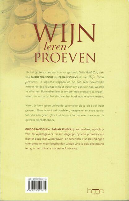Wijn leren proeven - Guido Francque & Fabian Scheys (achterkant)