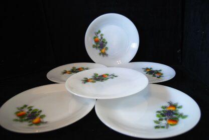 6 platte borden 23 cm-Arcopal Fruits de France