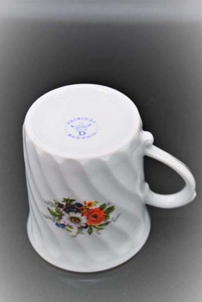 Beker met bloemen-Original Bohemia porselein