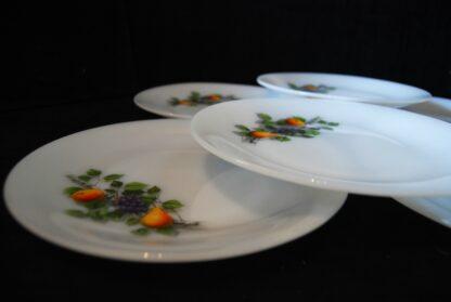 Fruits de France dinerborden-set van 6-Vintage Arcopal