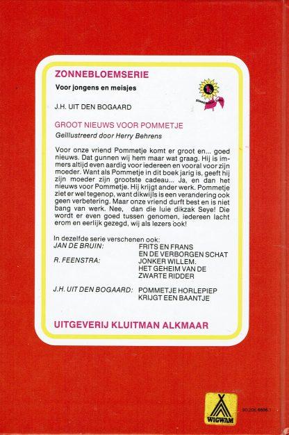Groot nieuws voor Pommetje - J.H. Uit den Bogaard-vintage jeugdboek