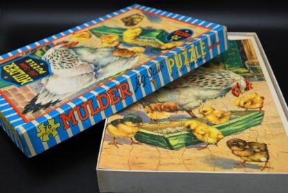 Jaren 60 legpuzzel 70 stukjes kip en kuikens