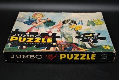 Jumbo vintage legpuzzel-fully interlocking-meisje en hond-nr 1006