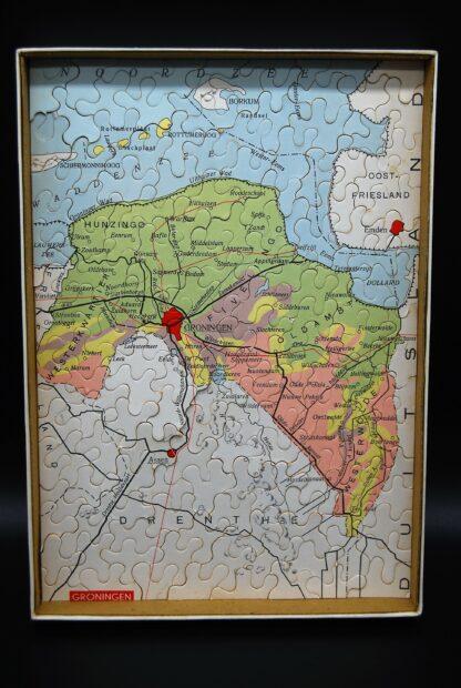 Provinciepuzzel Groningen-vintage-Spelenderwijs aardrijkskunde leren