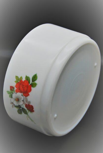 Schaal met bloemen rood-wit, Arcopal Amelie