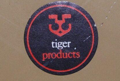 Tiger spiegel vintage bruin