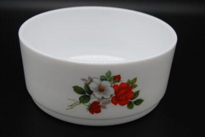 Vintage schaal met wilde rozen-Arcopal Amelie
