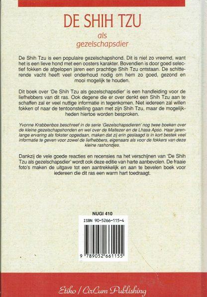 De Shih Tzu als gezelschapsdier - Yvonne Krabbenbos ISBN 9052661154