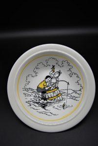 Schaaltje Suske en Wiske-vissen-geel-1989