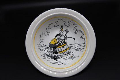 Suske en Wiske verzamelitem-geel schaaltje 1989- vissen
