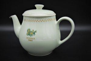 Vintage porseleinen Pickwick theepot mintgroen