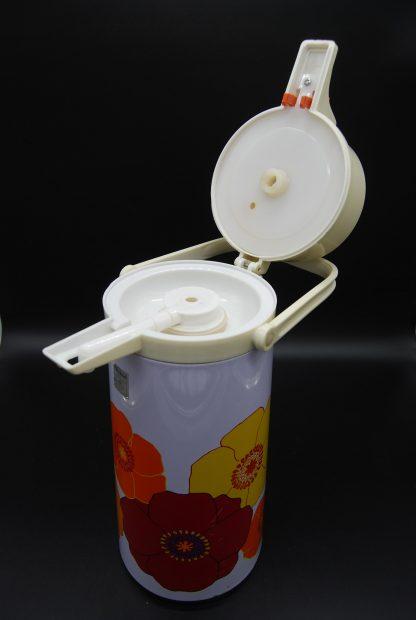 Vintage thermoskan met pomp jaren 70