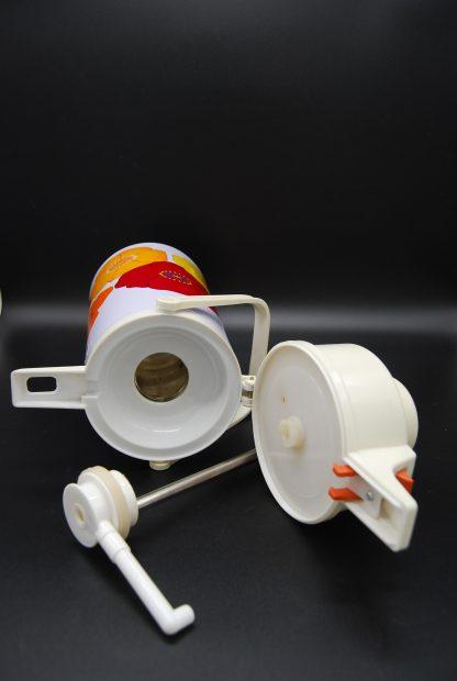 Vintage thermoskan voor koffie orchid design