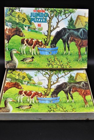 Boerderij dieren puzzle Jumbo jaren 80- Fully interlocking-20 stukjes