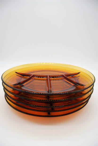 Duralex glazen fondueborden amber