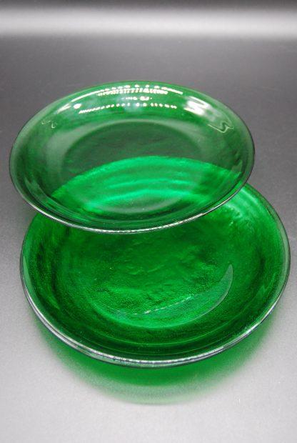 Groene vintage ontbijtborden Arcoroc