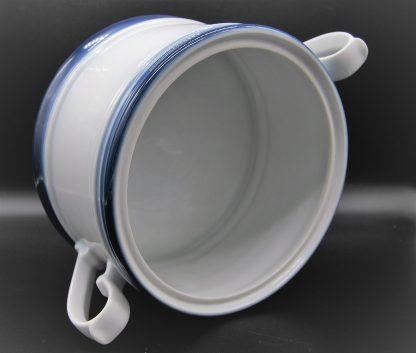 Kronester Bavaria soepterrine 2 liter wit met blauwe rand