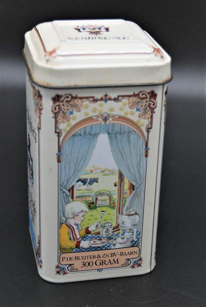 Vintage blikje de ruijter chocoladehagelmelk