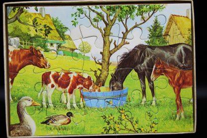 Vintage puzzel boerderij 20 stukjes Jumbo nr 1133- Fully interlocking