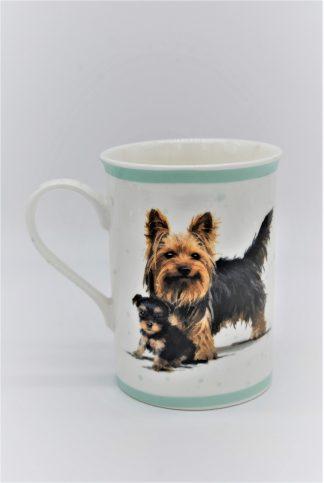 Beker hond Yorksire terrier en pup Macneil Studio