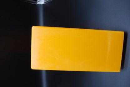 Oranje LP platenhouder onderkant