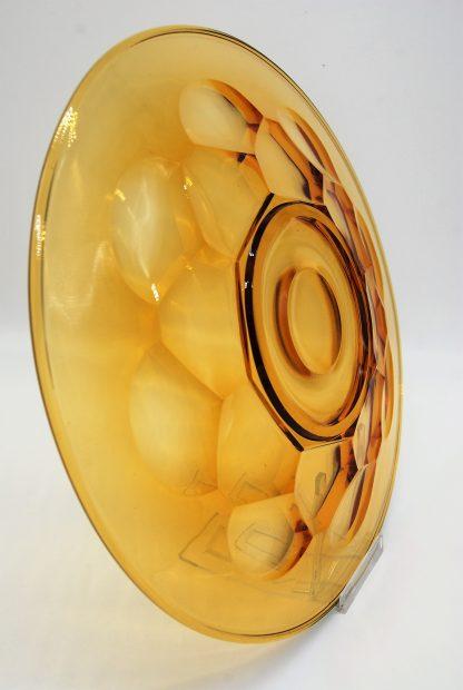Schaal Ø 29 cm amberkleur onderkant