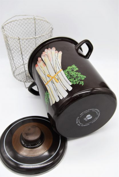 Emaille pan voor asperges- donkerbruin-Made in Germany-Braun & Kemmler