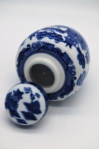 Gemberpot in Willow blauw stijl