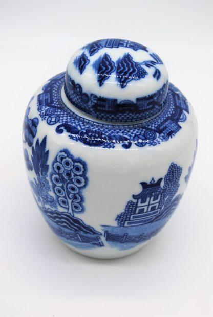 Gemberpot in blue Willow stijl