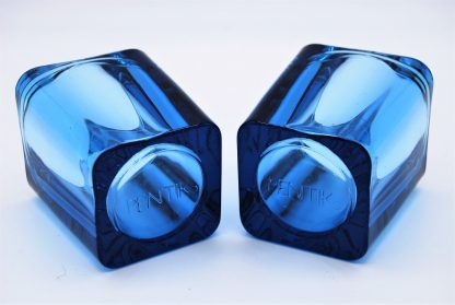 Pentik-kandelaars blauw glas
