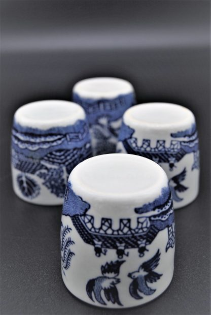 Set eierdopjes Willow England blue