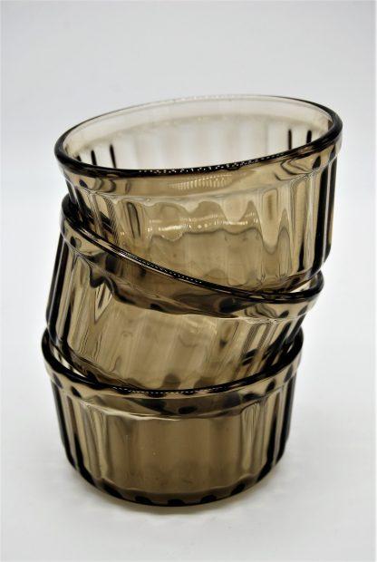 Soufflébakjes Arcopal- gerookt glas