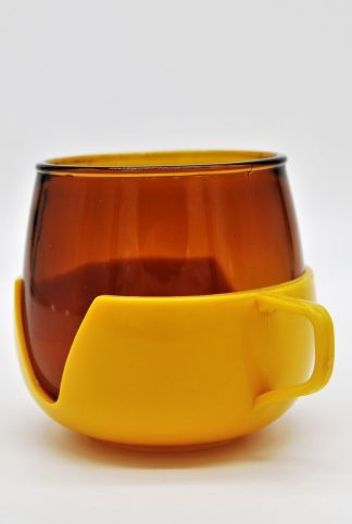 Theeglas geel-oranje rookglas
