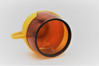 Vintage theeglas geel-oranje