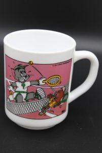 Vintage beker Arcopal-Tom & Jerry Op de tennisbaan