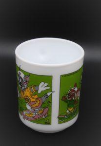Vintage beker Tom & Jerry-Arcopal-Dixan skateboard