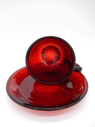 Arcoroc Sierra koffiekopje van glas in robijnrood